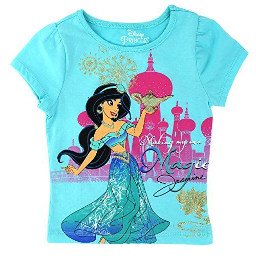 Disney Aladdin Princess Jasmine Toddler Girls T-Shirt /& Shorts Clothing Set