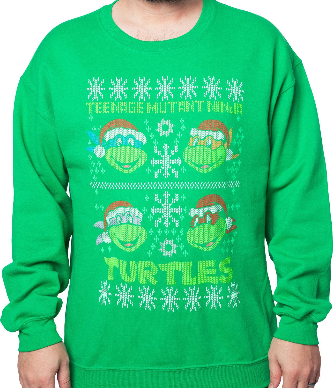 Teenage Mutant Ninja Turtles Faux Ugly Christmas Sweater | New Mens ...