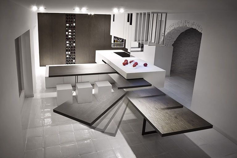 Thecut Kitchen Rotating Table Contemporary Kitchen Design Contemporary Kitchen Kitchen Design