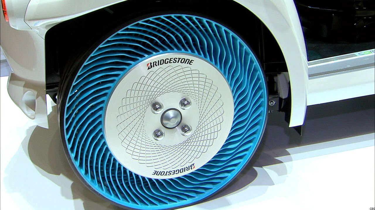 Road To The Future Airless Tires Cnet Llantas