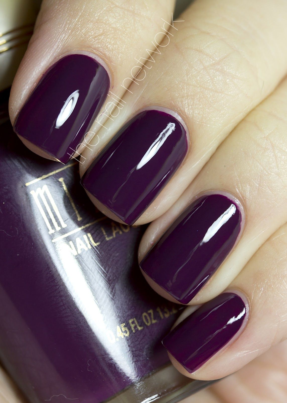 Cute Plum Color Nails Year Of Clean Water