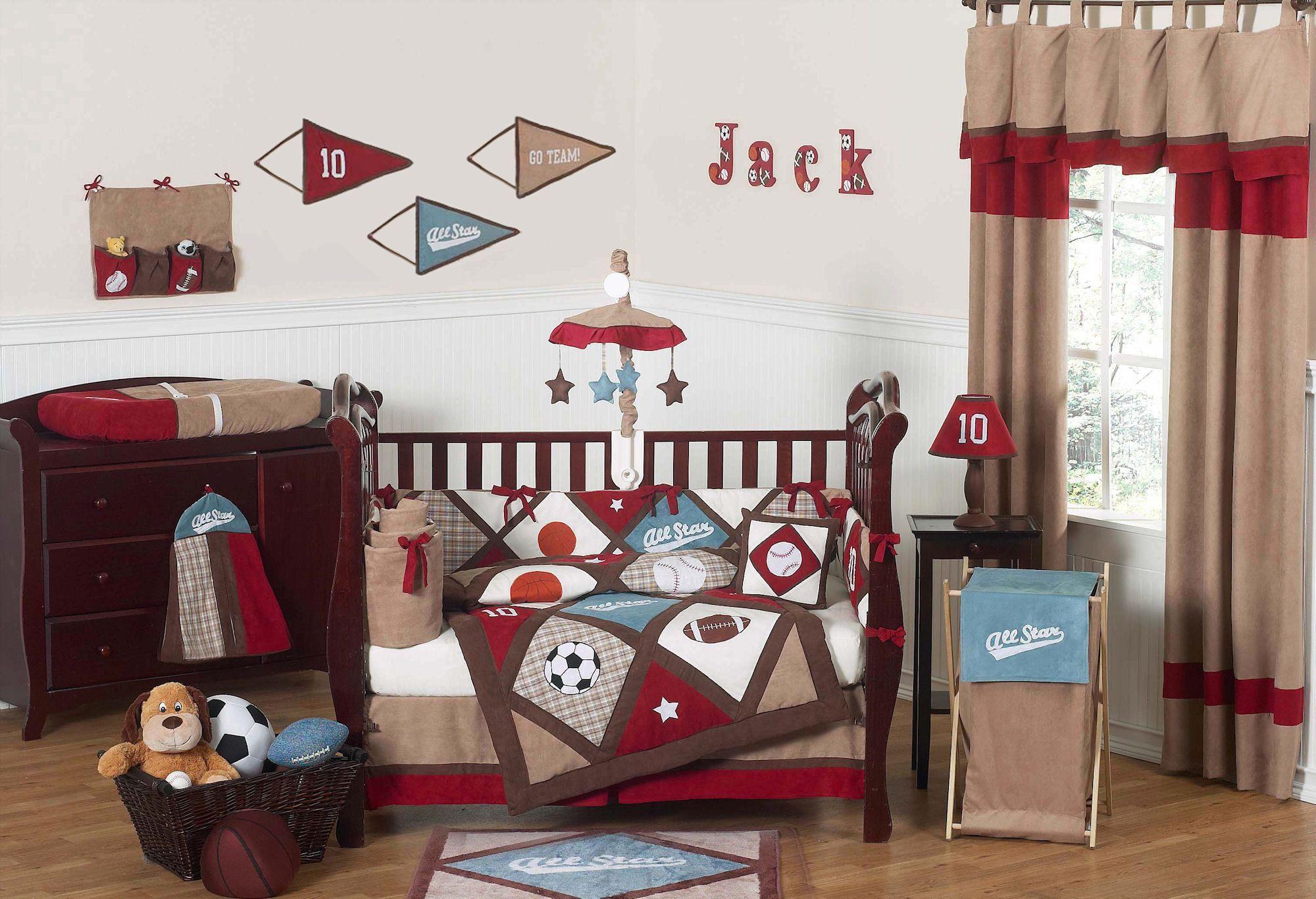 Baby Boy Sports Nursery All Star Sports Theme Baby Boy Crib