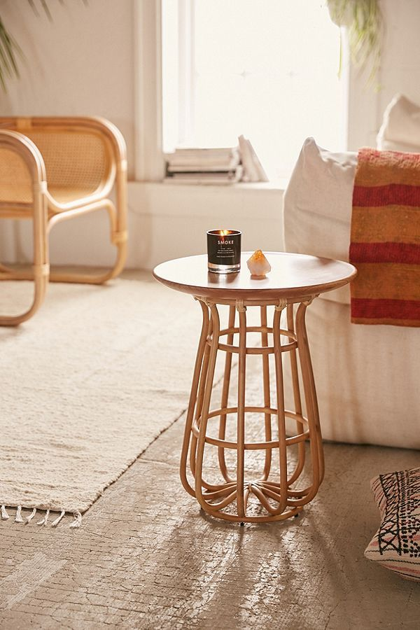 a modern take on boho d cor with this basket base side table made rh pinterest com