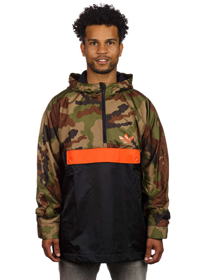 adidas halfzip hooded windbreaker camo jacket clothes. Black Bedroom Furniture Sets. Home Design Ideas