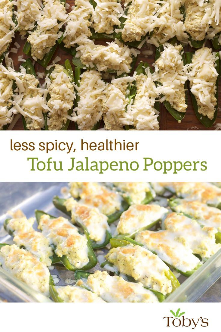 Less spicy, healthier jalapeno poppers made with Toby's Tofu Spread