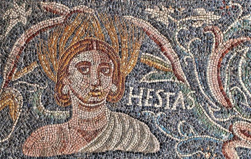 Alegor a del verano mosaico romano s iv encontrado en for Mosaico romano