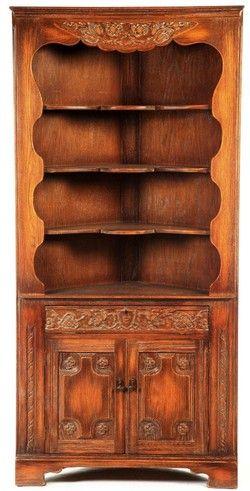Furniture Cupboard-Corner; Jacobean (Style) Rorimer Brooks Oak & Furniture: Cupboard-Corner; Jacobean (Style) Rorimer Brooks Oak ...