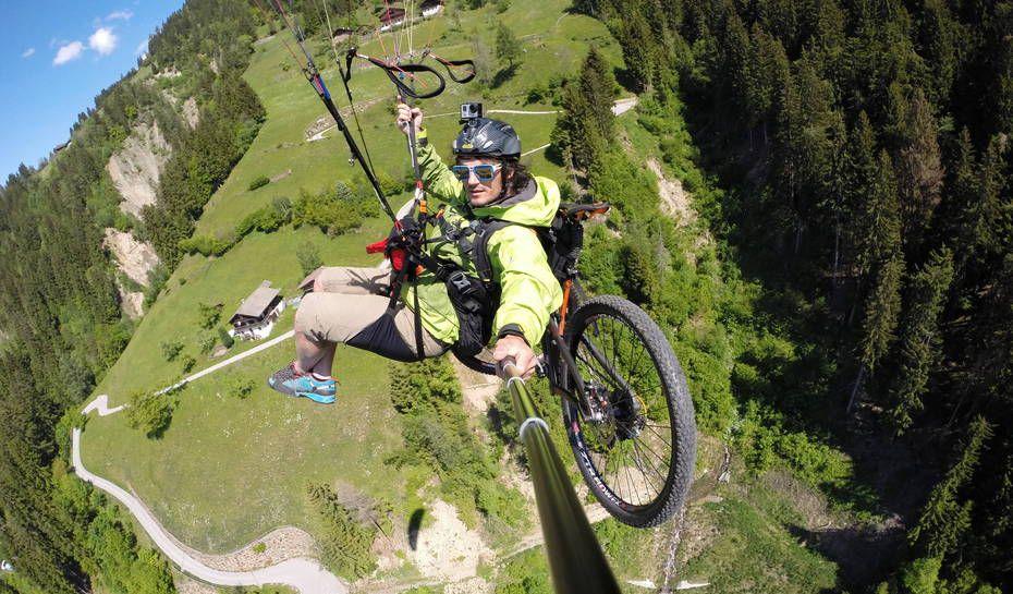 "Daniel Kofler explains, ""A new sport is born Bike & Fly"