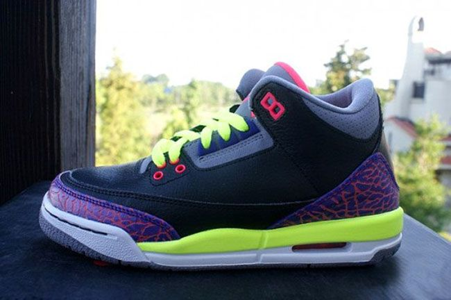 Air Jordan 3 Retro GS  Purple  Volt  Pink