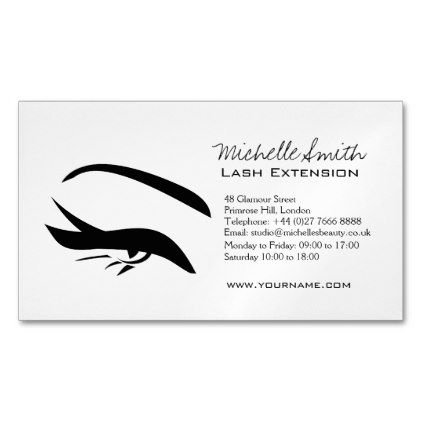 Black eyeliner lash extension henna make up icon magnetic business card makeupartist businesscards black eyeliner lash extension henna make up icon magnetic business reheart Choice Image