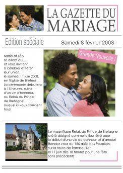 La Gazette des mariés - Le blog de Mon Mariage reussi ...