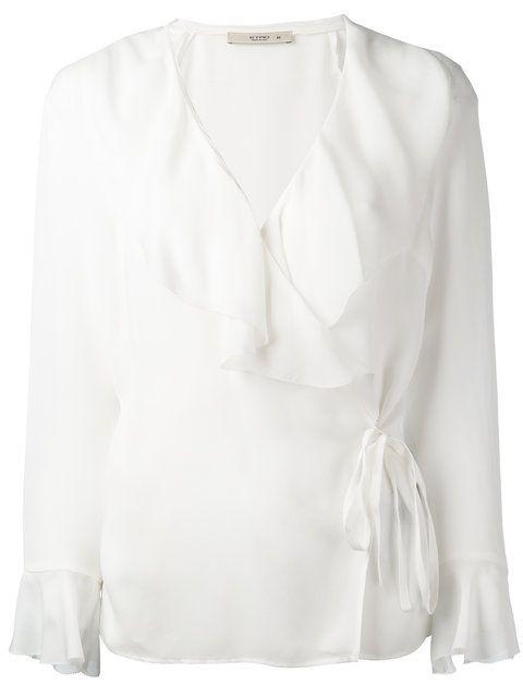 35af37e744b9e4 ETRO Ruffled Wrap Blouse. #etro #cloth #blouse | Etro | Wrap blouse ...