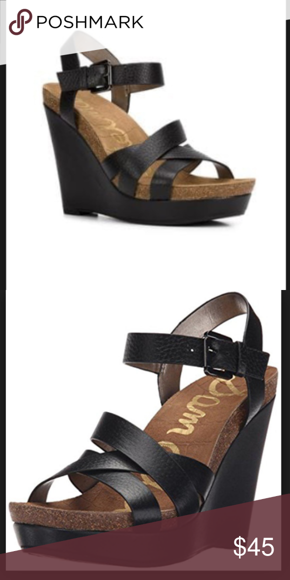 0c80d7785ce2 NWOB- Sam Edelman Nelson Wedge Sandals Black Take your summery-chic style  to the