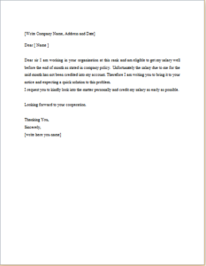 Salary Request Letter Download At HttpWwwTemplateinnCom