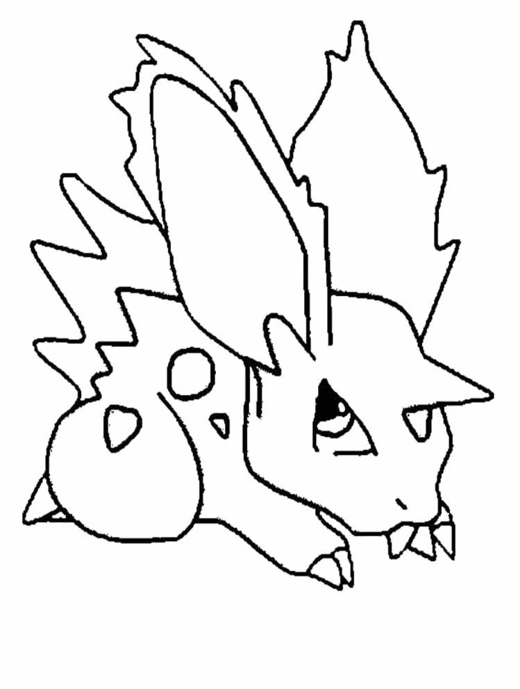 pokemon nidoran coloring pages