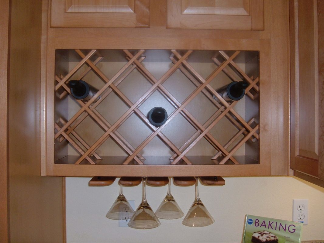 Cabinets and Hardware -- Wine & Glass Rack from 4/3/13 blog ...