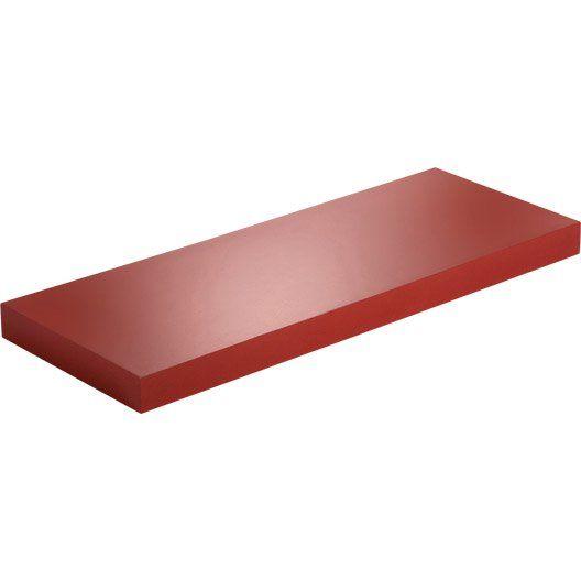 Etagère Murale Rouge Rouge N 3 Color Spaceo L 60 X P 23 5