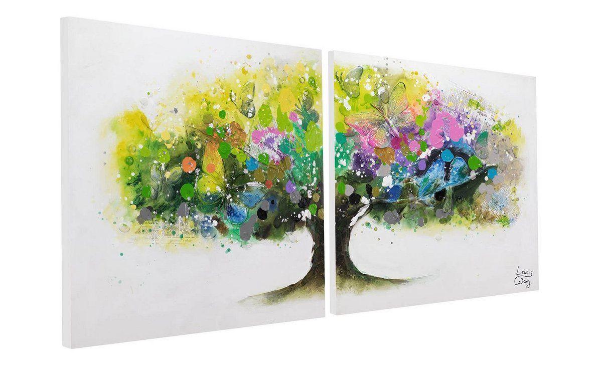 Gemälde »Regenbogenbaum«, handgemaltes Bild auf Leinwand