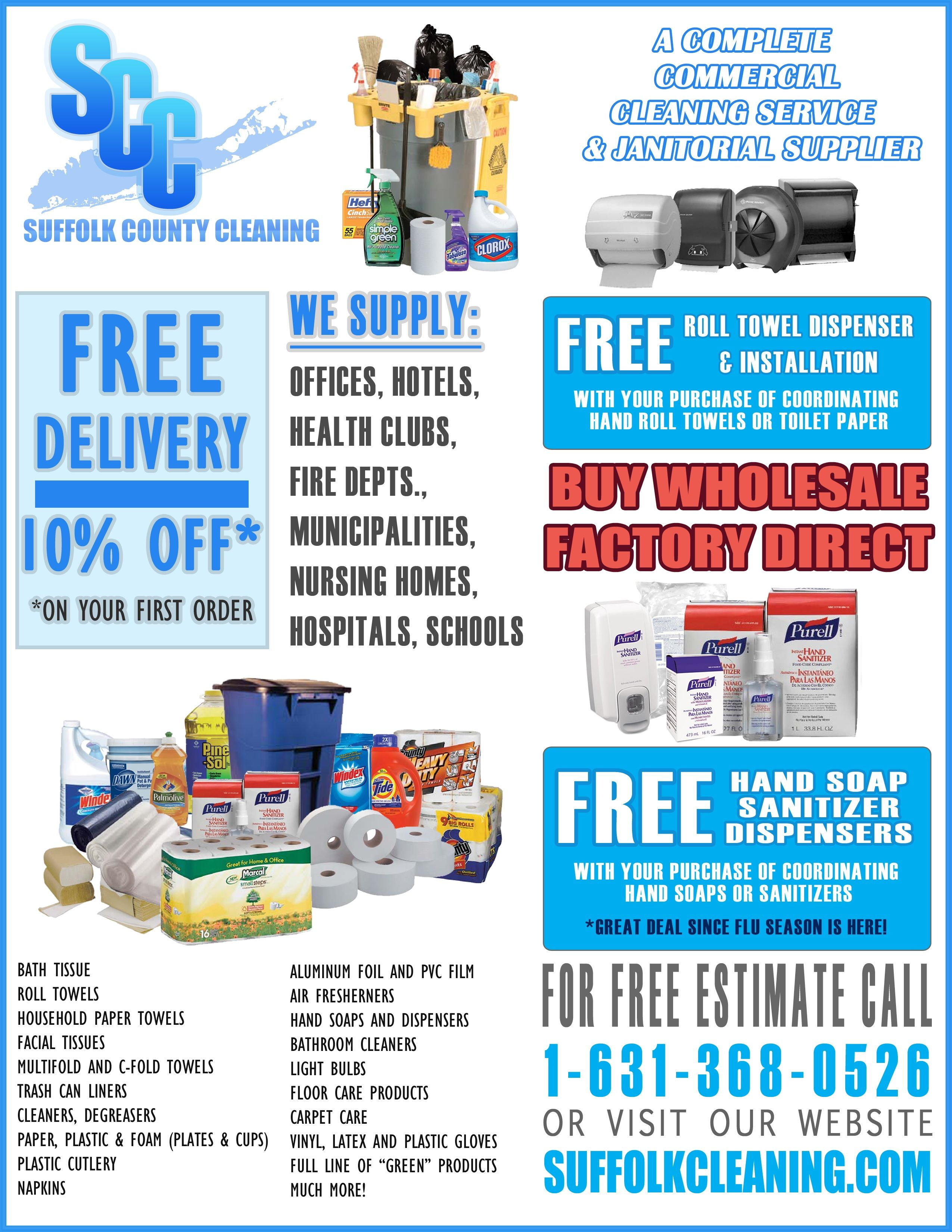 Janitorial Flyer Commercial cleaning services
