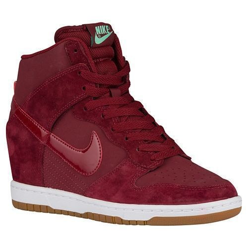 online store 7ec38 5564b NIB Nike Dunk Sky Hi Womens Hidden Wedge Sneaker Team Red Gum 5.5- 10 Half  - Athletic