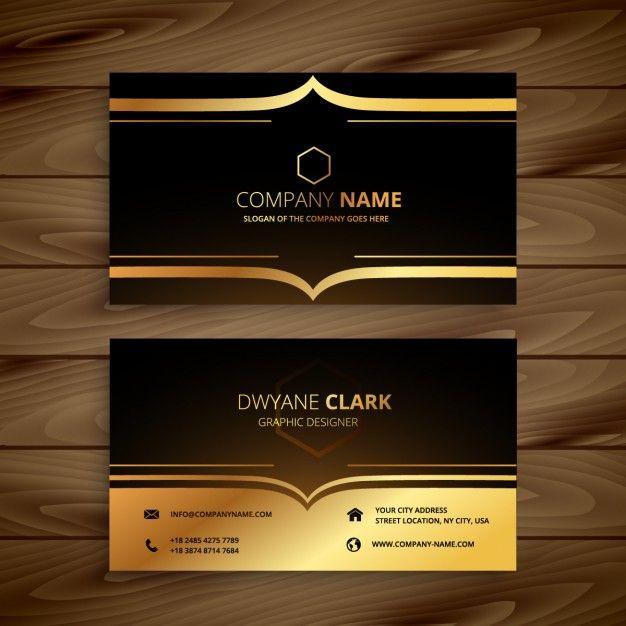 Fabuloso cartão de visita de luxo em estilo de ouro | Cartões de visita de  WF19