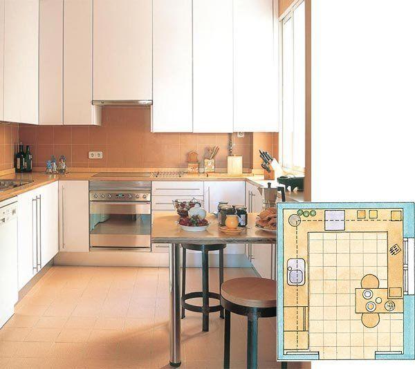 distribucin en u perfecta para cocinas cuadradas - Cocinas Cuadradas