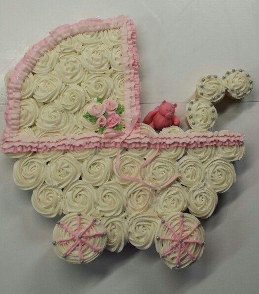 Baby Buggy Cupcakes Baby Shower Cupcake Cake Baby Shower