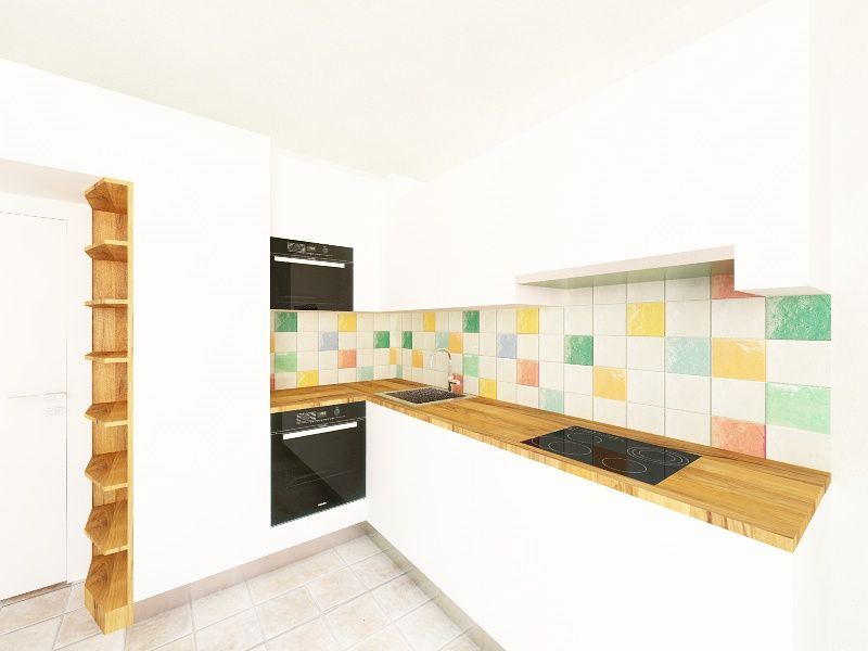 Copridivano provenzale ~ Provenzale vizualizace kuchyně