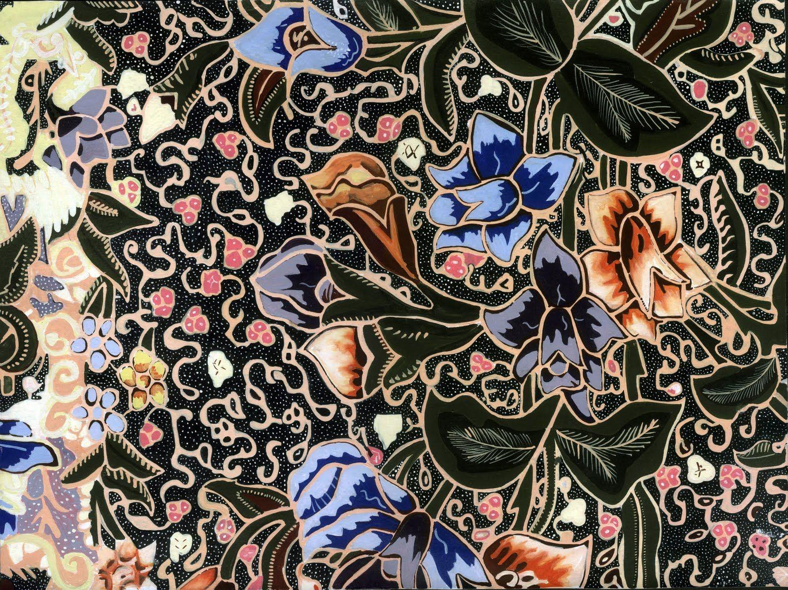 Batik Motif From Pekalongan Central Jawa Indonesian Art Design