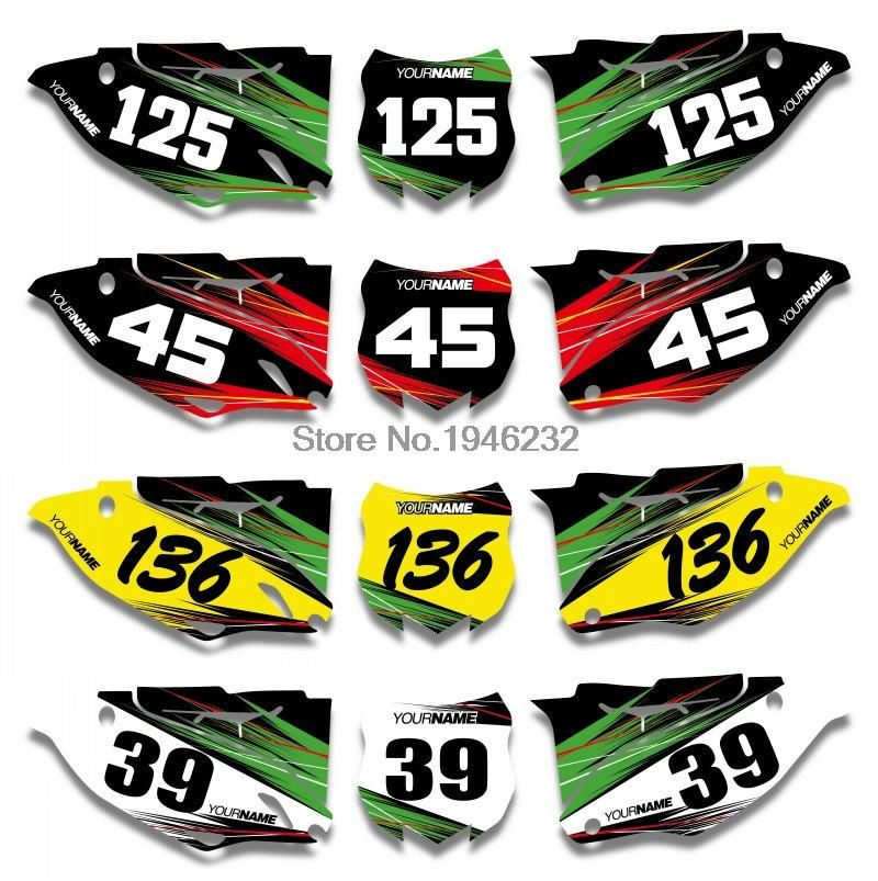 Custom Number Plate Backgrounds Graphics Sticker Decals For
