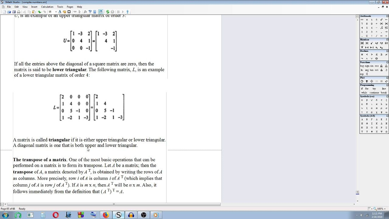 Engineering Mathematics On The Go - 17 - Matrices - Square