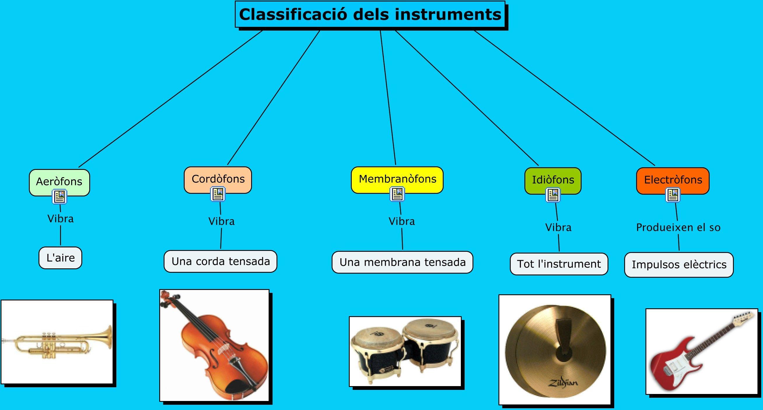 Classificació dels instruments
