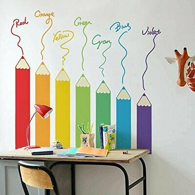 Colourful Pencil Wall Sticker Removable Art Home Decor Decal Mural Kids Room