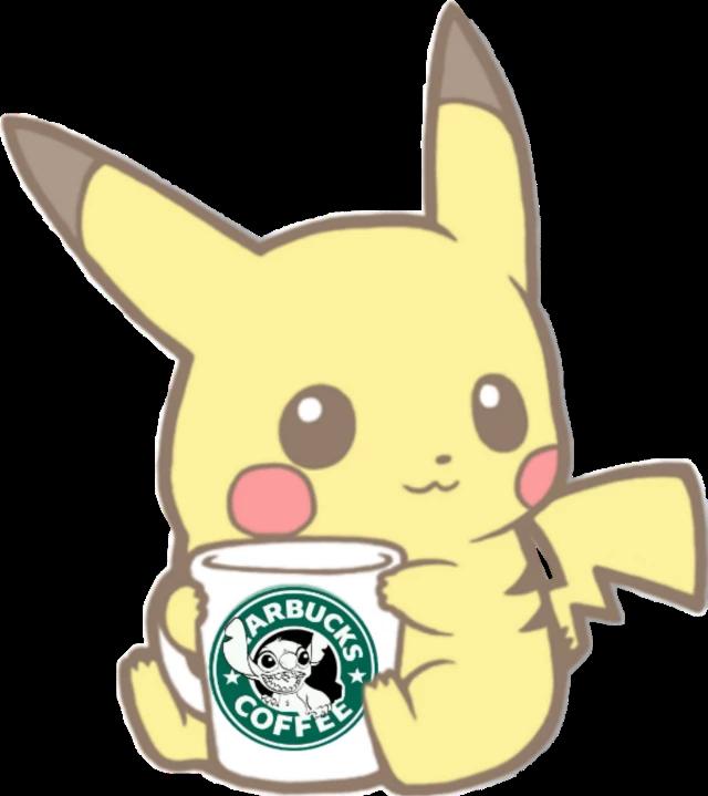 Pikachu Holding A Big Cup Of Starbucks Coffee Cute Pokemon Wallpaper Pikachu Wallpaper Pikachu Art