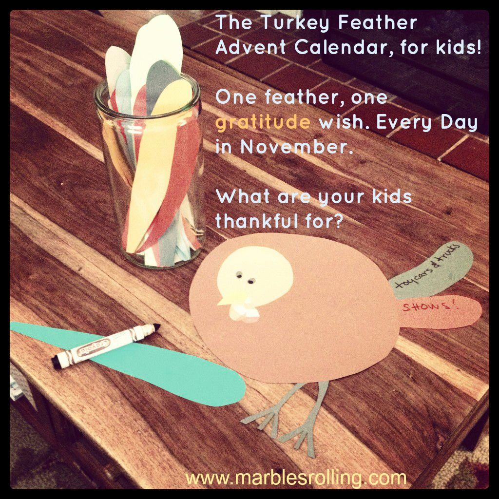 The Turkey Feather Advent Calendar For Kids
