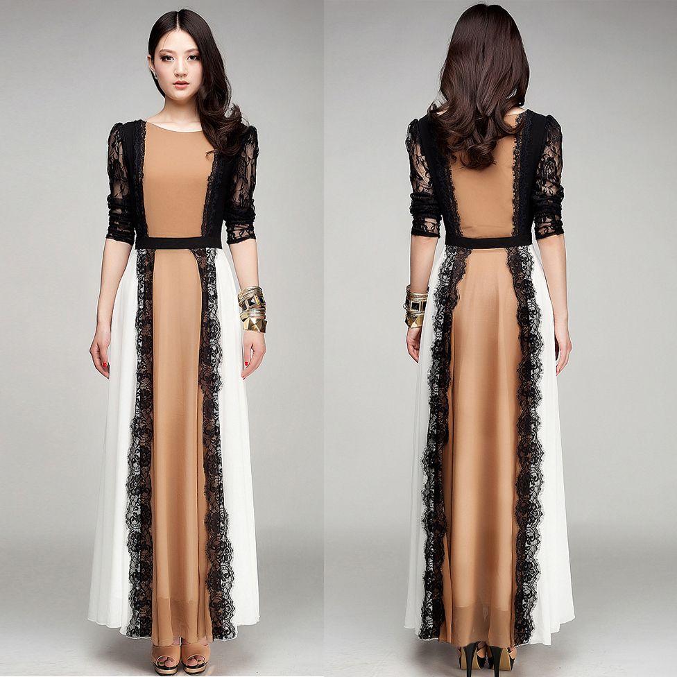 2015 quality latest arab ladies caftan fashion dubai lace detailed ...