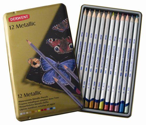 Derwent Metallic Water Color Pencils Derwent Studio Metallic