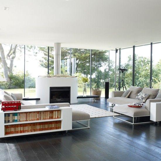 Moderne offene Wohnzimmer Wohnideen Living Ideas Interiors ...