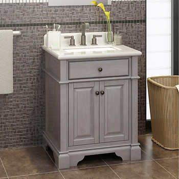 Casanova 28 Antique Gray Vanity By Lanza 499 28 Costco Bathroom Vanity Gray Vanity Small Bathroom Paint