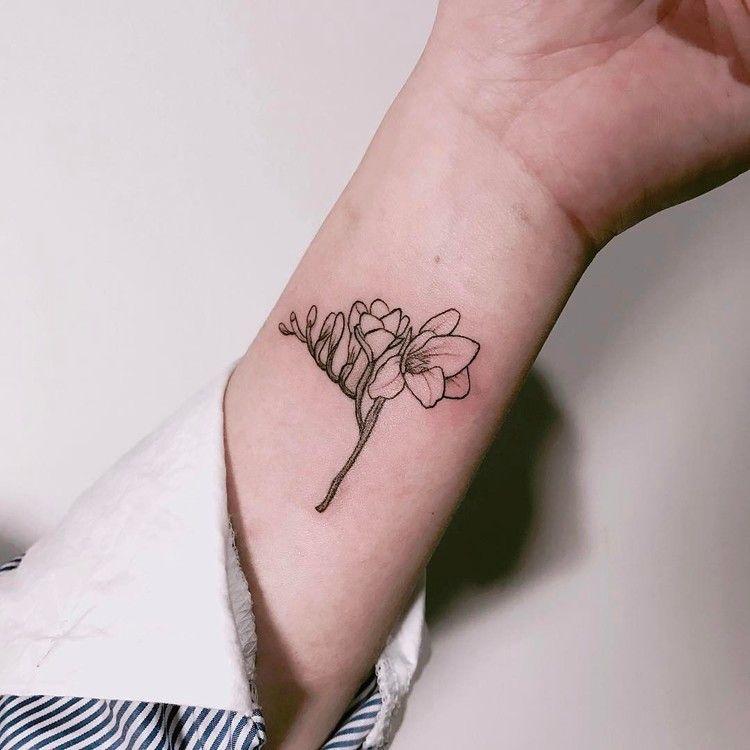 22 Beautiful And Delicate Freesia Tattoo Designs Tattoo