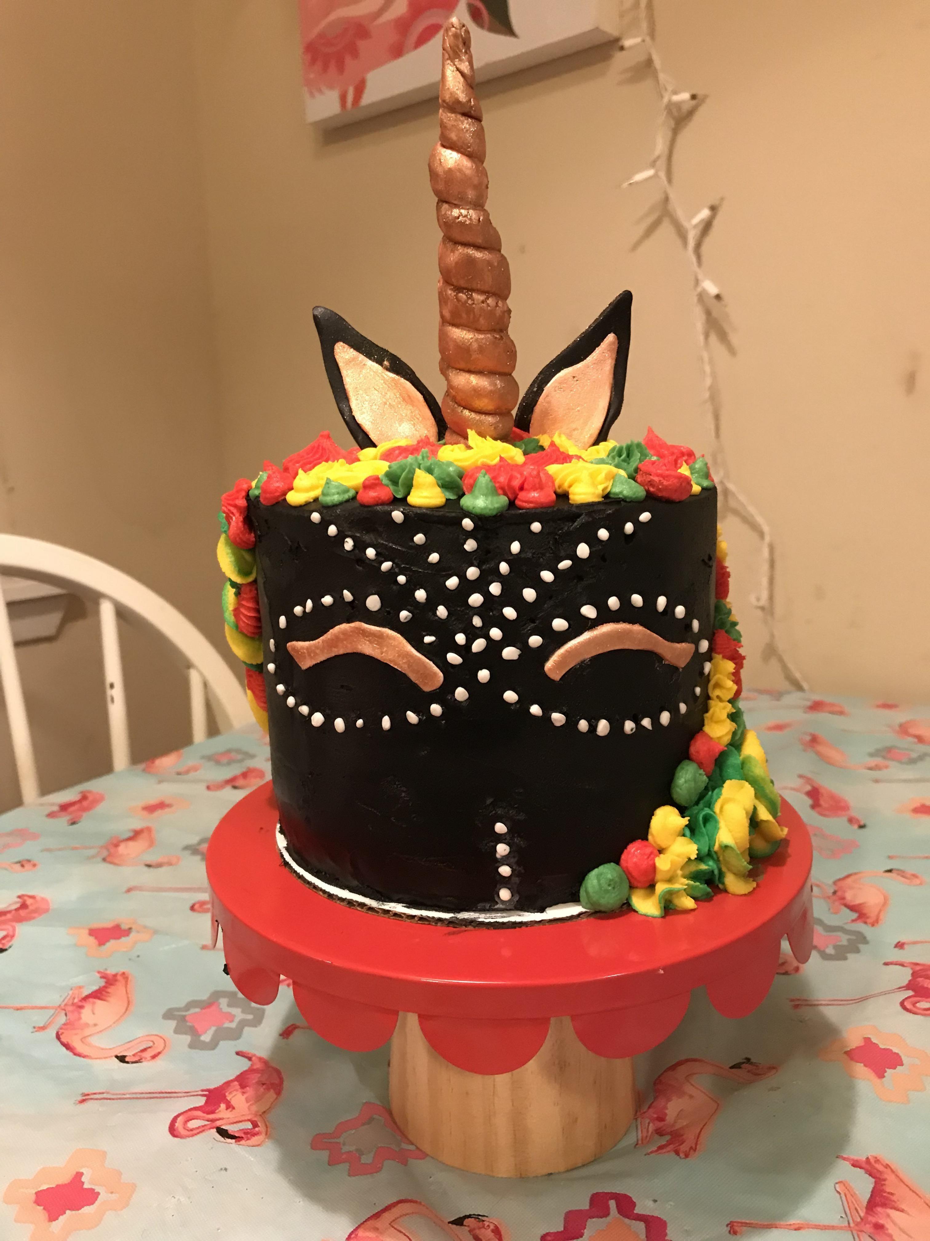 Wakanda Black Panther Inspired Unicorn Cake Homemade Yummy