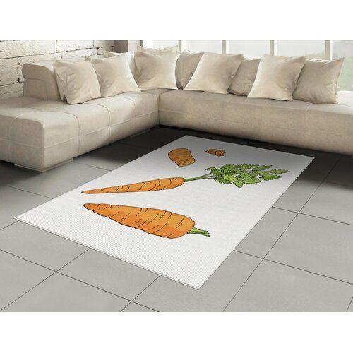 Katelin Flatweave Orange Apple Green Rug August Grove Rug Size