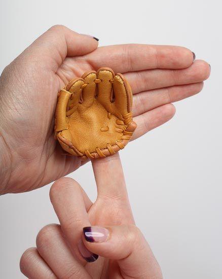 Mini Gloves Baseball Glove Vintage Doll Baseball