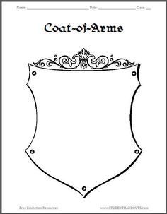 Coat Of Arms Template Worksheet 3 Coat Of Arms Medieval Arms