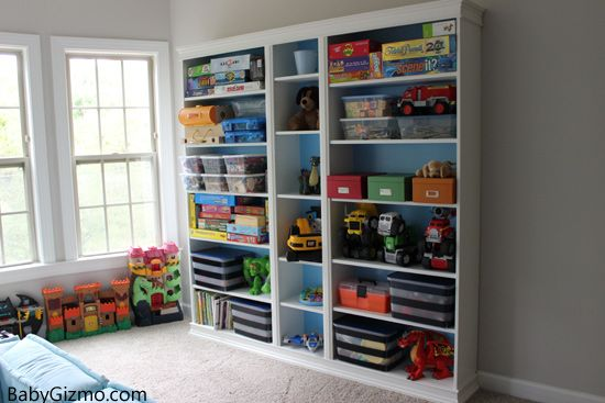 Turn A Basic Ikea Bookshelf Into A Built In Homedecor Home Ikea Playroom Ikea Billy Bookcase Ikea Toy Storage