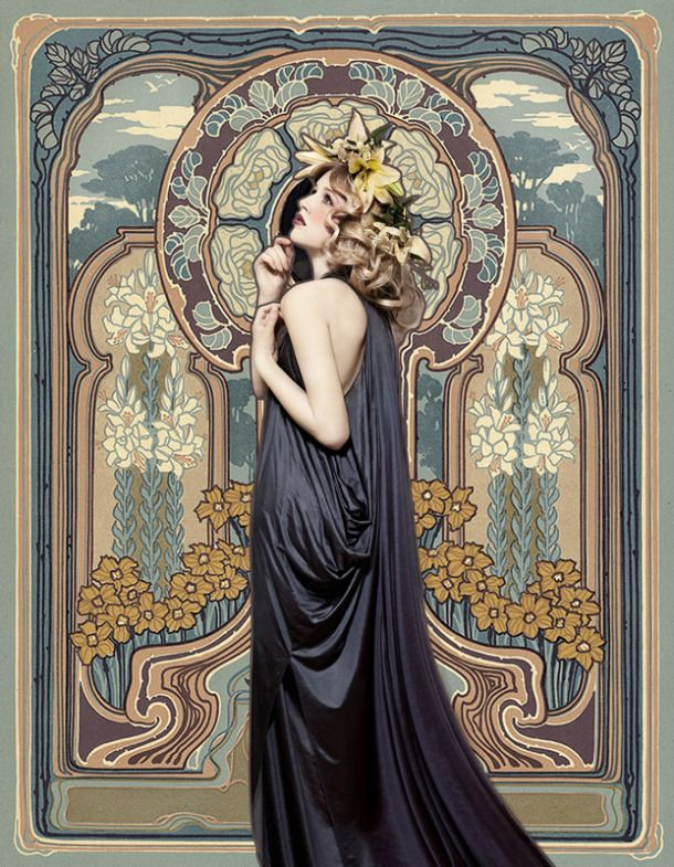 Andrey Yakovlev photographs like old paintings. Brilliant work. Like this Jugendstil - Alphonse Mucha.