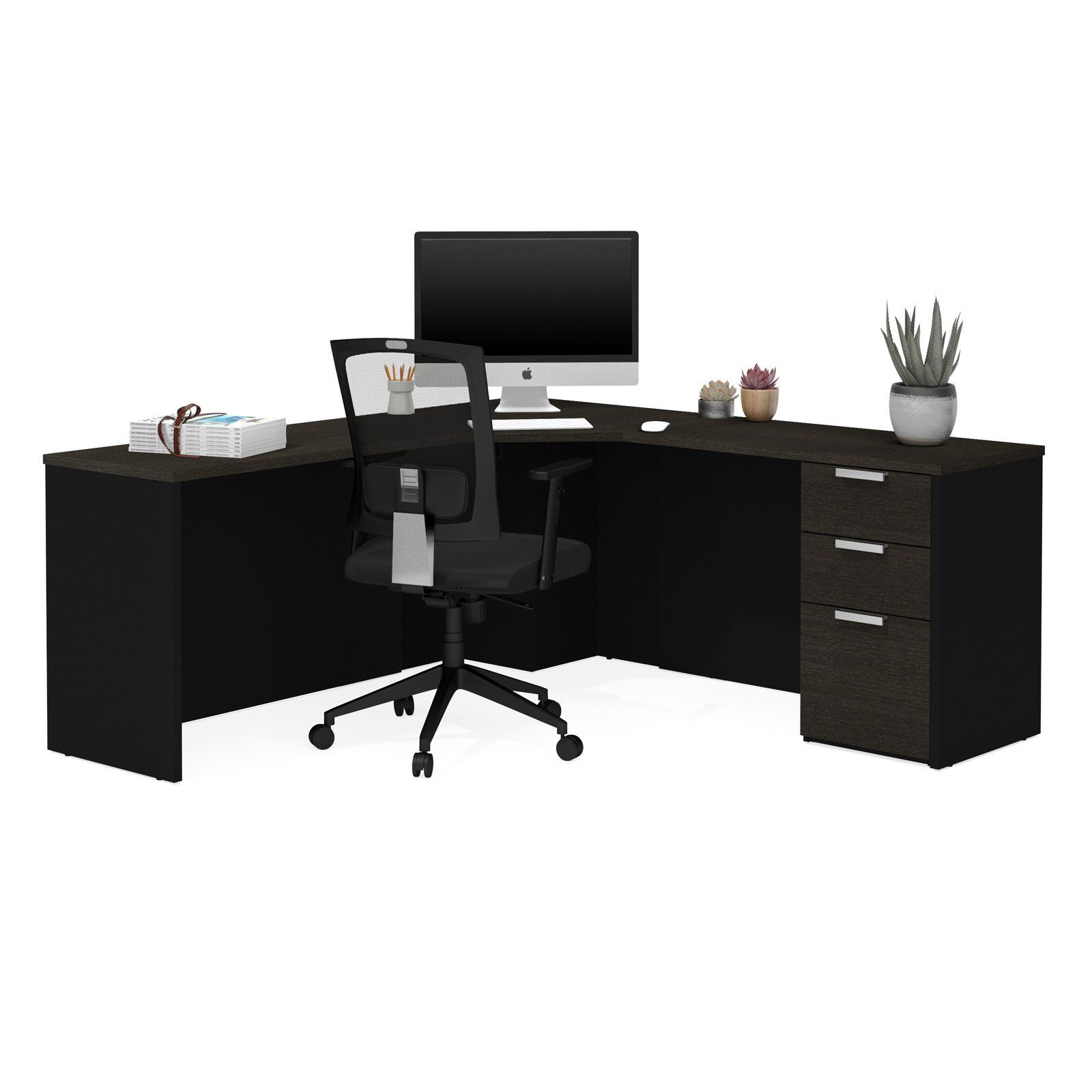 bestar pro concept plus corner desk with optional keyboard shelf rh pinterest com