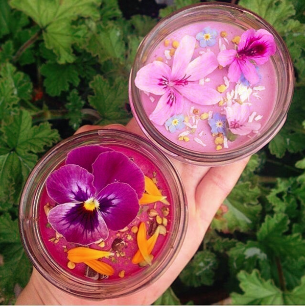 Vegan & gluten free 'pudding cups' with edible flowers ...