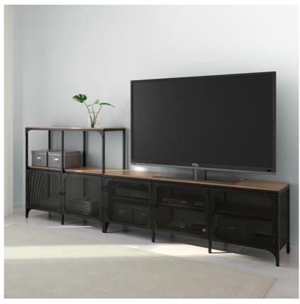Ikea Fjallbo Tv Stand Mobilier De Salon Meuble Tv Ikea Meuble Tv Noir