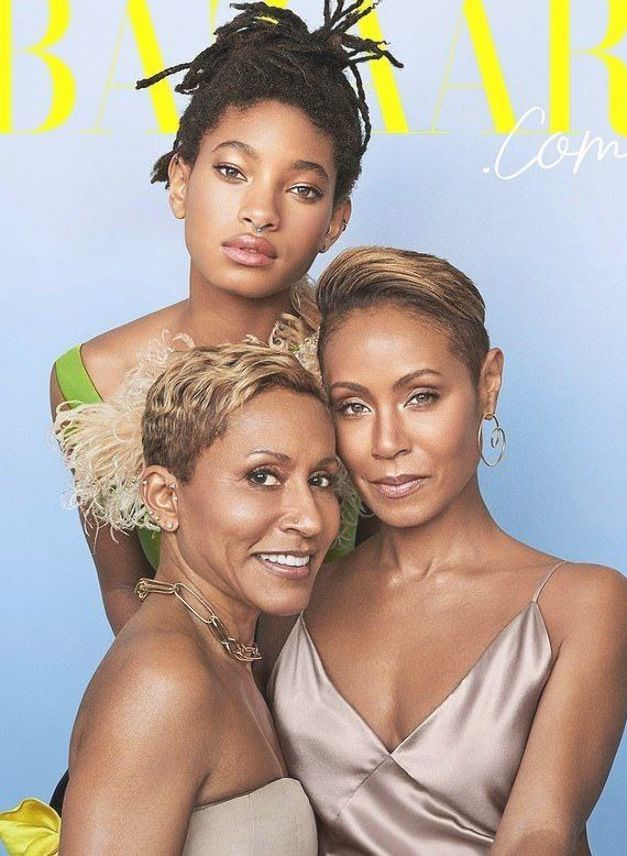 'The new American Dynasty': Jada  poses with daughter Willow, 18 and mom Adrienne, 64, on ... #jadapinkettsmith #willowsmith #harpersbazaar